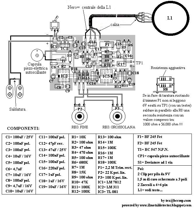 Costruire un Metal Detector: Schema ed Istruzioni