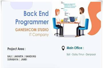 Lowongan Kerja Karyawan Backend Programmer Ganeshcom