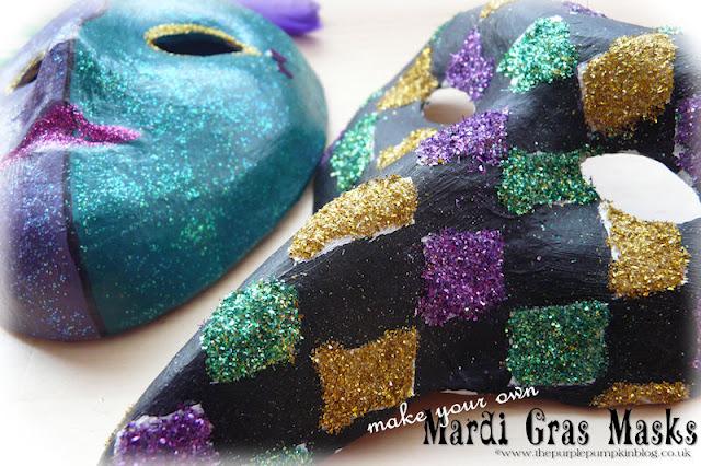 Make Your Own Mardi Gras Masks | The Purple Pumpkin Blog
