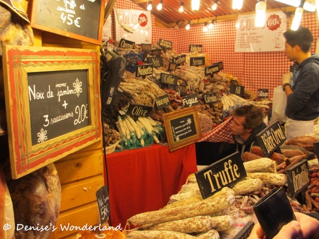 Stall selling cured meats