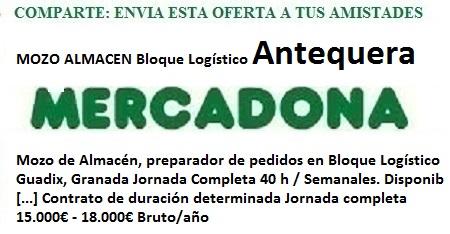 Antequera, Málaga. Lanzadera de Empleo Virtual. Oferta Mercadona