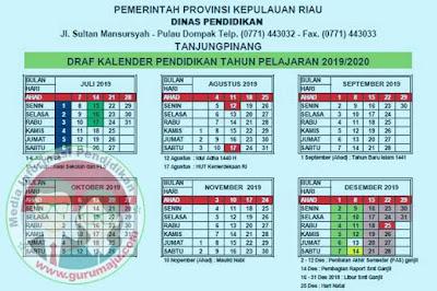 Kalender Pendidikan 2019/2020 Riau