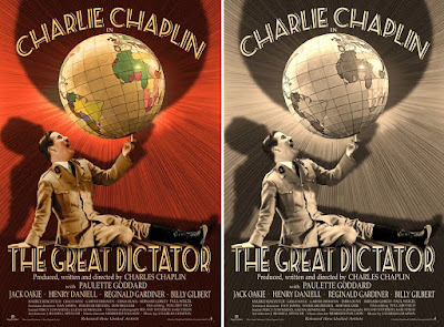 Charlie Chaplin's The Great Dictator Movie Poster Giclee Print by Bruce Emmett x PopCultArt
