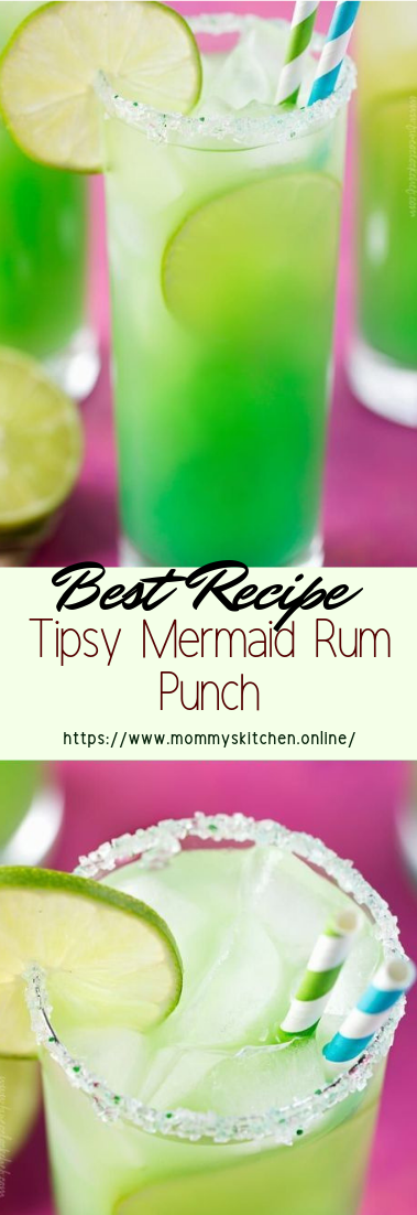 Tipsy Mermaid Rum Punch #healthydrink #easyrecipe #cocktail #smoothie