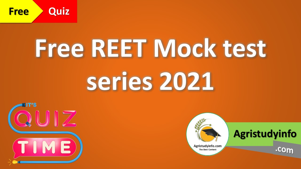 Read more about the article Free REET Mock test series 2021