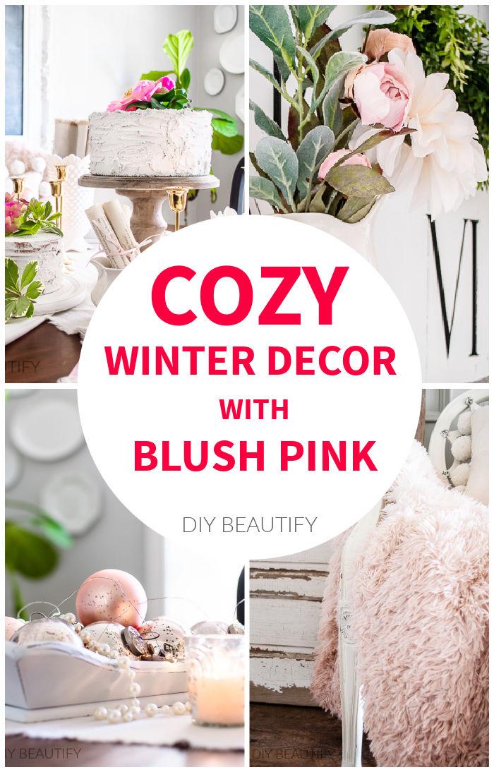 cozy winter pink decor