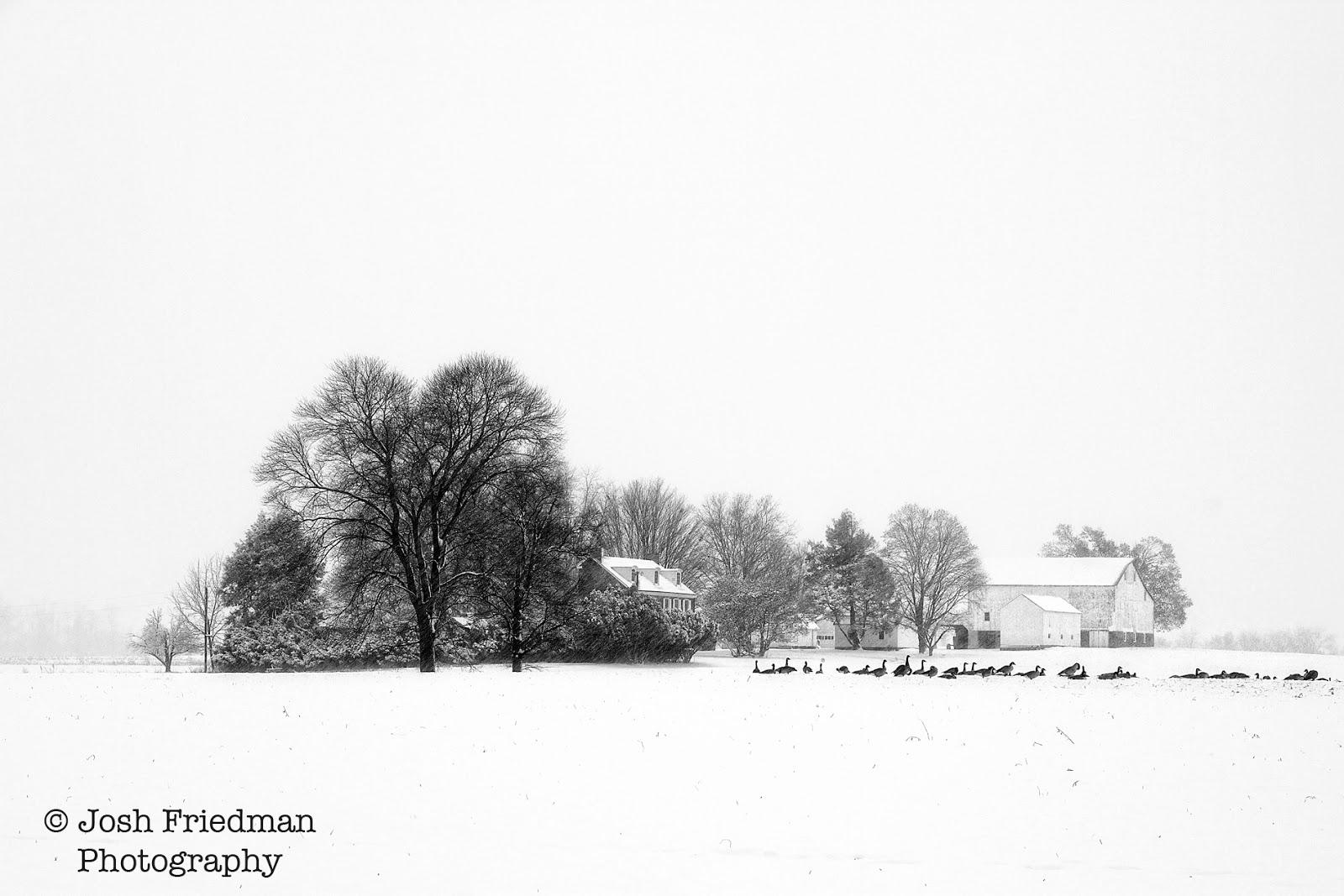 Patterson farm in falling snow yardley pennsylvania 12 9 17