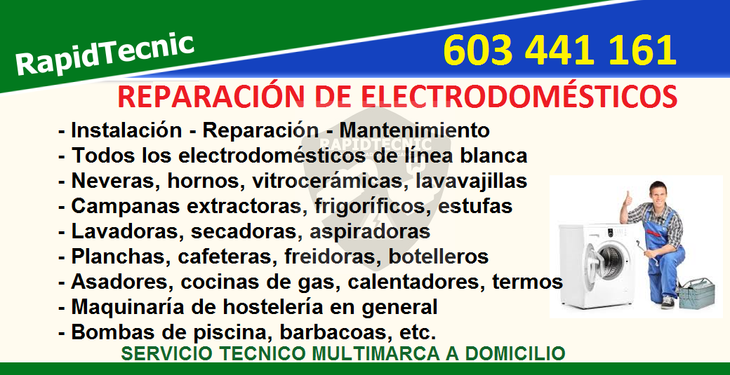 Rapidtecnic valencia reparaci n de electrodom sticos - Reparacion de lavadoras en valencia ...