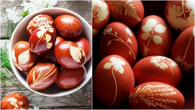 παραδοσιακά κόκκινα αυγά