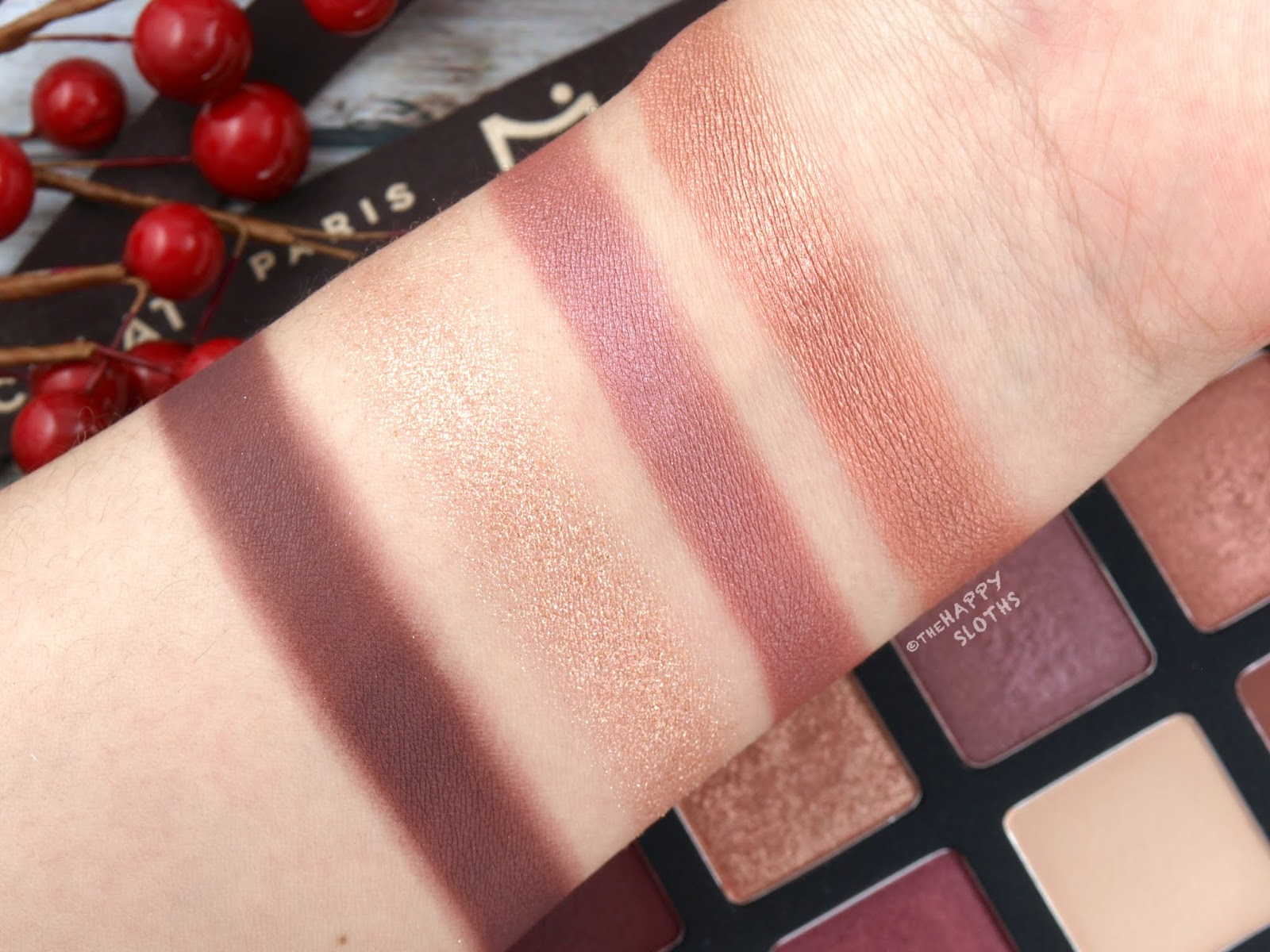 "Shu Uemura | Holiday 2018 La Maison du Chocolat Collection | Ganache & Praline Eye Palette in ""Framboise Berry"": Review and Swatches"