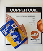 10 ft roll of copper tubing and cutter