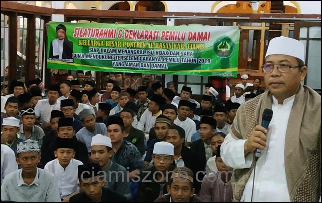 Al Hasan Deklarasikan Pemilu Damai Tanpa Hoax dan Tidak Golput
