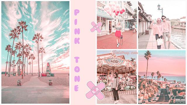 preset lightroom pink pastel tone