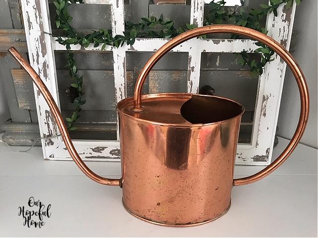 Smith & Hawken vintage copper watering can
