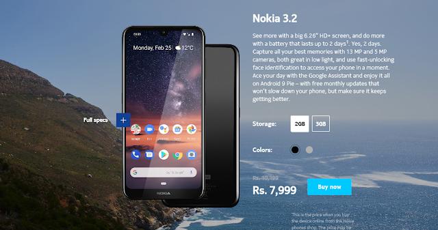 Nokia 3.2 Price Cut