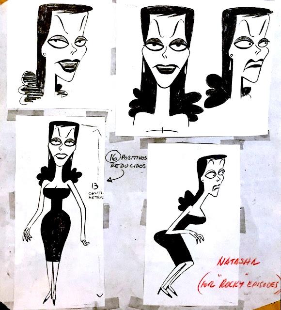 Jay Ward's foreign spy Natasha Fatale from Rocky & Bullwinkle 1960's