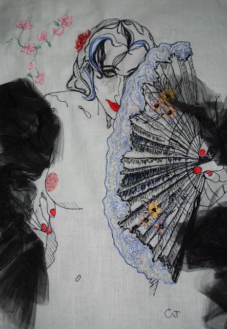 broderie, art textile contemporain