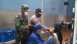 Binmas Desa Loa Polsek Paseh Polresta Bandung, Pantau Vaksinasi Warga