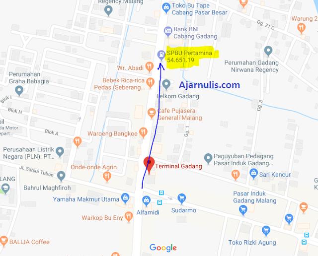 Titik Jemput Ojek Online Gojek-Grab di Perempatan Gadang Malang