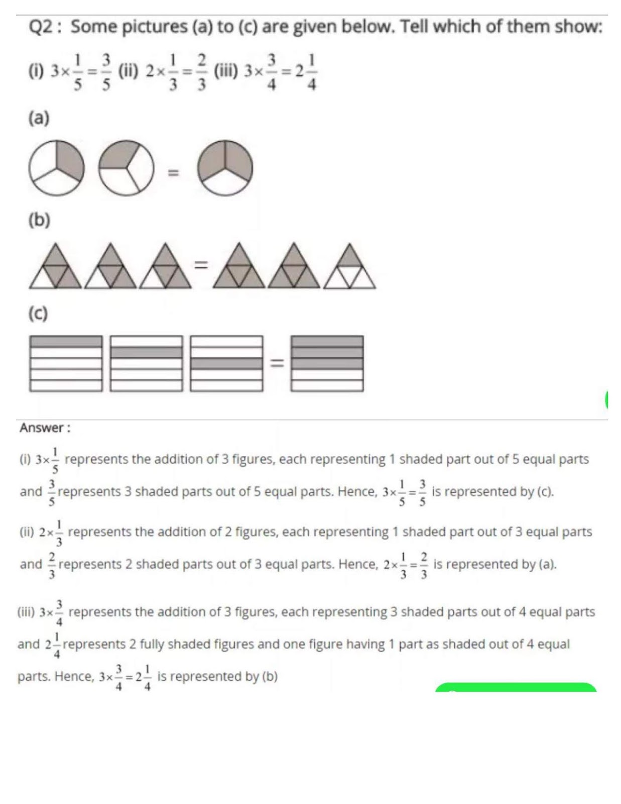 NCERT Solutions of Class 7 MATHS Chapter 2 FRACTIONS AND