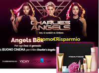 Logo MyBeautyBox Charlie's Angels: 1 Buono Cinema Stardust come regalo certo
