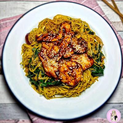 Sticky chicken low calore recipe