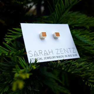 fifth anniversary wooden jewelry gift earrings