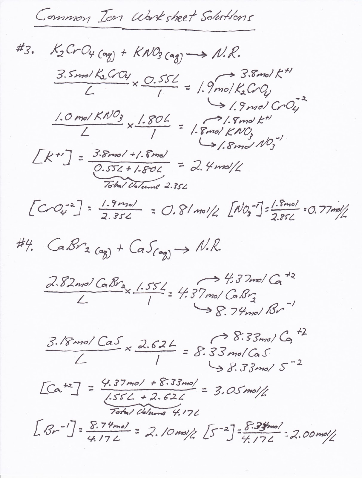 Mr Brueckner S Ap Chemistry Blog 17 Common Ion