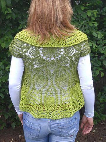 Patrón #1738: Chaleco Redondo a Crochet