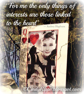 Audrey Hepburn quote, Linked to the Heart, Chicago Flower and Garden Show 2013, Creative Tablescape, Florals-Family-Faith, Cindy Rippe