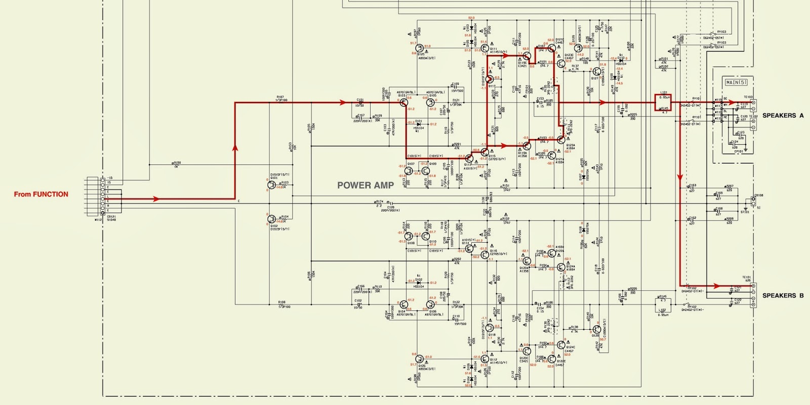 small resolution of yamaha ax 596 power u0026 amp schematic circuit diagram stereoyamaha amp schematic