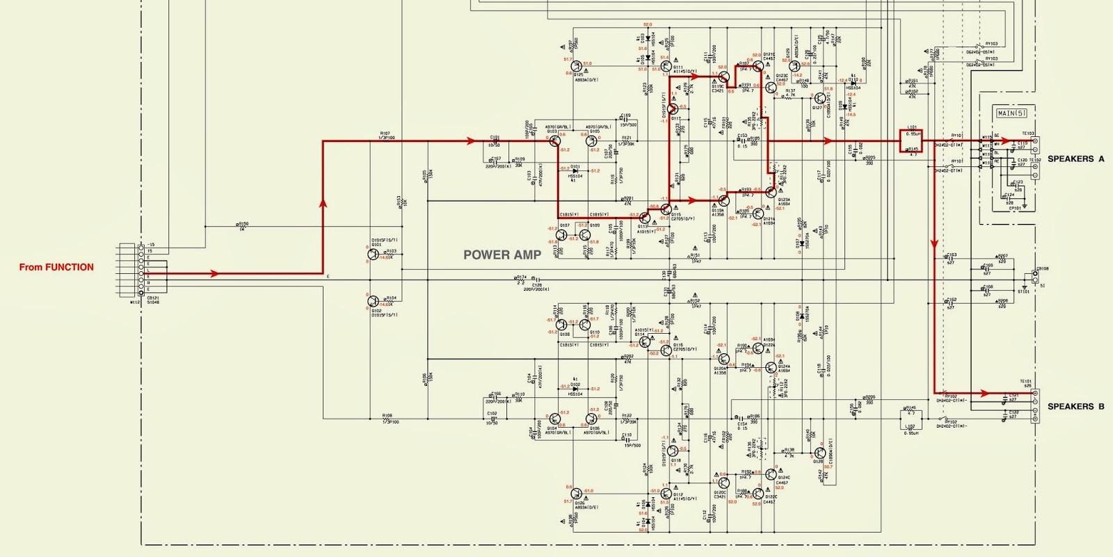 medium resolution of yamaha amp schematic