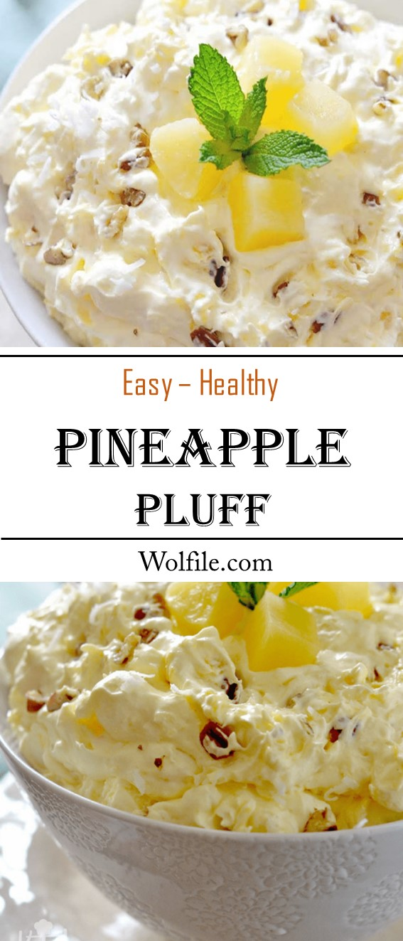 Easy Pineapple Fluff #Pineapple #Salad #healthy