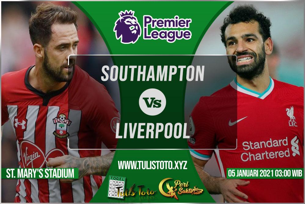 Prediksi Southampton vs Liverpool 05 Januari 2021