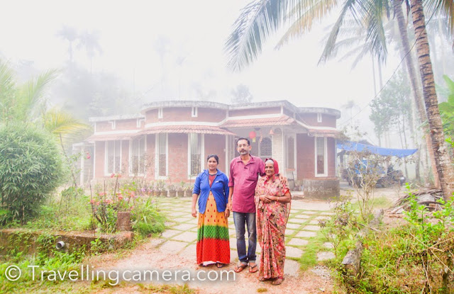 We visited North Kerala in January 2015, and today when I think back at that time, all I remember is great hospitality, greenery, and a beautiful Bamboo Village. In this Time-Turner post, let me turn back time to that exciting trip to the Bamboo Village of Thrikkapatta in Wayanad region of Kerala. The Time-Turner series is my opportunity to pen down the lingering memories and impressions of a place I have visited. It helps me relive the experience a bit and also reflect upon the aspects of the place that stood out the most to me. For more Time-Turner posts, follow this link: The Time-Turner Series. I remember when we met Suneesh, our host at the Bamboo Village. Our first impression was that of a simple, yet sophisticated, well-educated man. And he turned out to be a journalist and a social activist. He was a great host. During our stay at his place, he ensured that we make best of our time and explore things which are worth spending time. He took us on walks around the village and showed us vegetation, villagers busy in various activities, eco-tourism initiatives in the village and how Uruva is ensuring that young folks spend more time on their health instead of drugs. Suneesh stayed alone in his house and his wife worked abroad. All through our stay, his sister helped him with food and other preparations. Throughout our stay, we saw them smiling all the time. Especially his sister keeps the place cheerful. She was a great cook and an excellent singer.  One of the major highlights of our stay in the Bamboo Village was the food that Suneesh's sister cooked for us. We got to taste most of the local dishes in this stya. Suneesh's sister made it a point to cook something new for us in breakfast, lunch, dinner and snacks with tea. Most of the things served during our stay were cooked fresh with stuff grown in their own farms. She cooked several kinds of fish in different styles. Cooking style was very different but we enjoyed eating most of the meals served. Although we 