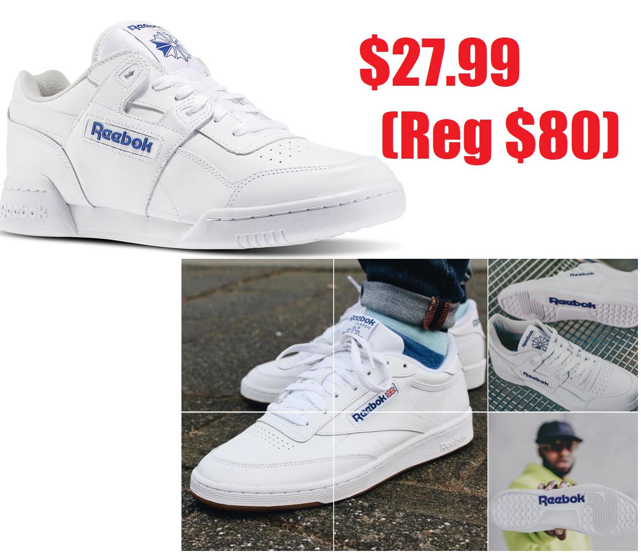 b35b5da8e61d3f Reebok Classics White Leather Workout Plus  27.99 + Free Shipping   Free  Returns