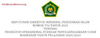 Administrasi Ujian Madrasah Tahun 2021