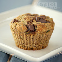 Chocolate Chip Zucchini Banana Muffins