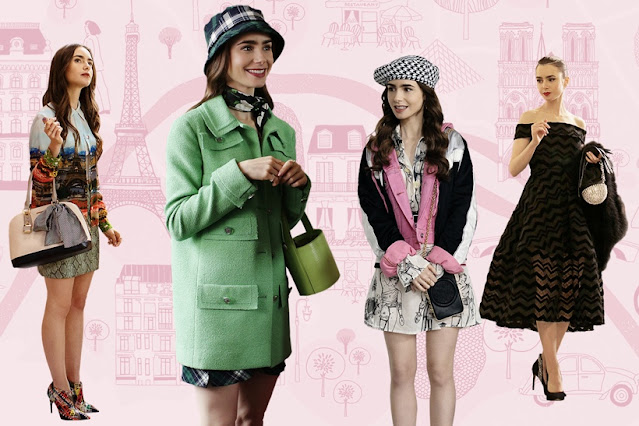Emily in Paris fashion collage