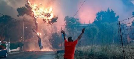 Video που σοκάρουν απο την πυρκαγιά στην Αττική