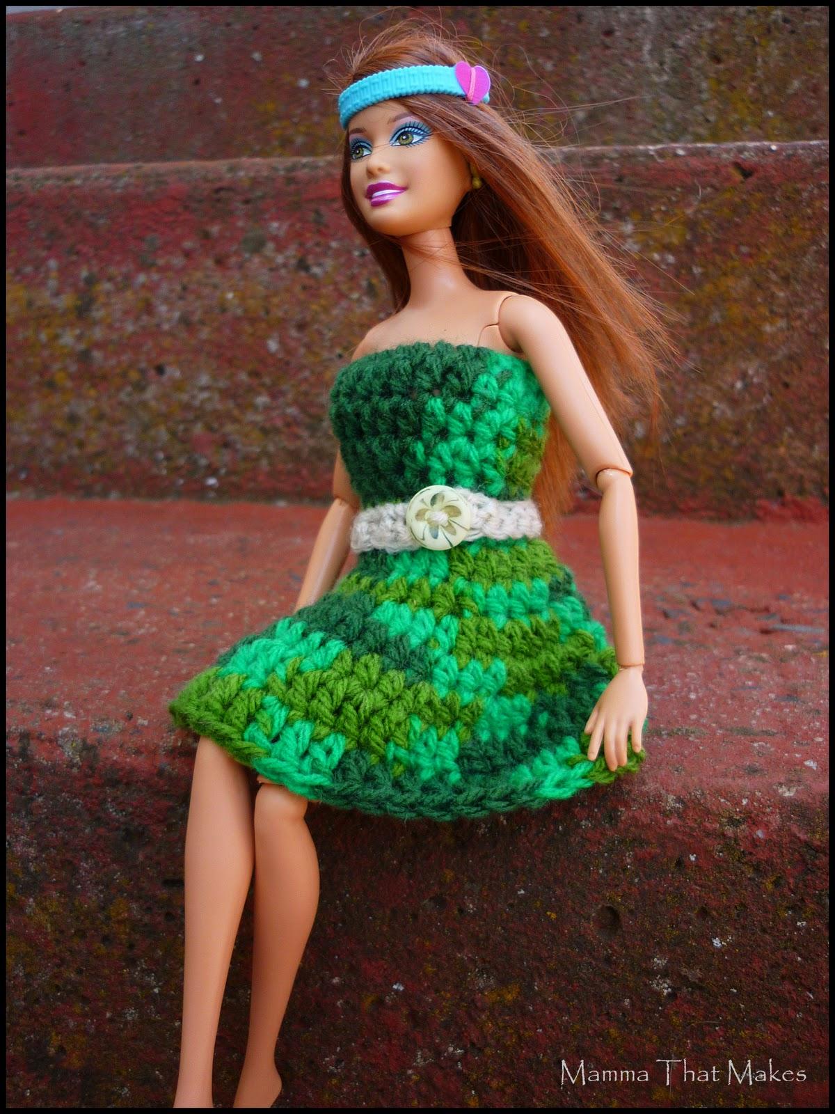 Mamma That Makes Crochet Pattern Barbie Garden Dress
