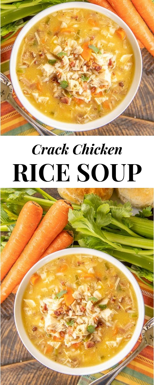 Crack Chicken and Rice Soup