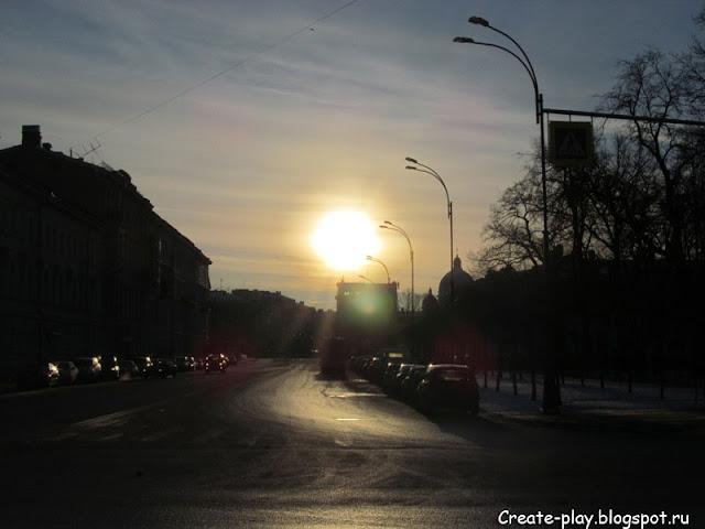 морозное солнце Петербург