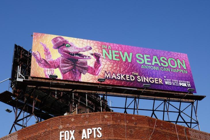 Masked Singer s4 Crocodile billboard