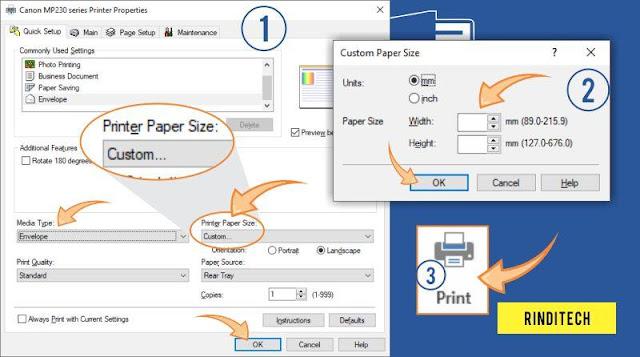 Cara Lengkap Print Amplop di Word Microsoft Office