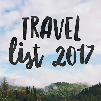 Travel List 2017