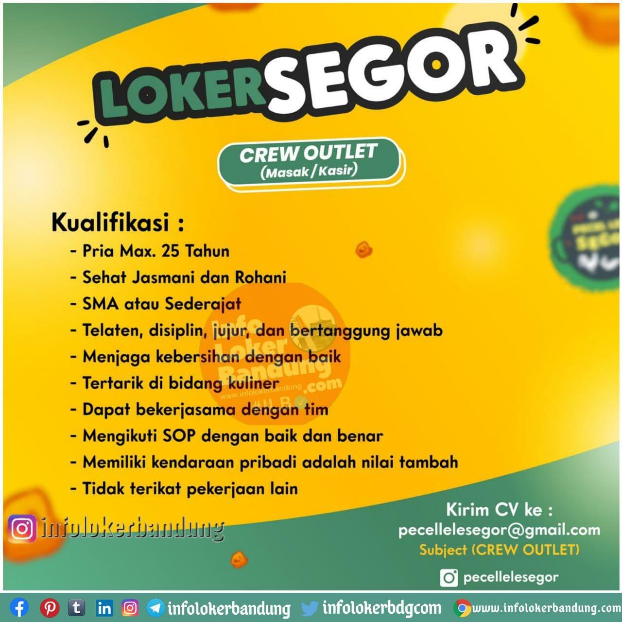 Lowongan Kerja Crew Outlet Pecel Lele Segor Bandung November 2020