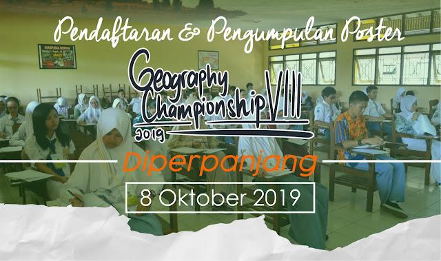 PENDAFTARAN GEOGRAPHY CHAMPIONSHIP VIII DIPERPANJANG