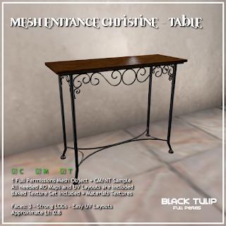 Mesh - Christine - Entrance Table