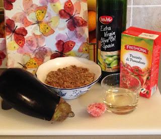Berenjenas rellenas, ingredientes